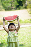 Little kid with watermelon Royalty Free Stock Image
