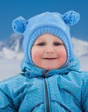 Little kid on winter day Stock Image