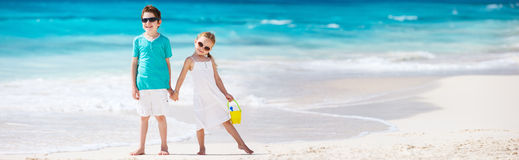 Little kids at beach Royalty Free Stock Photos