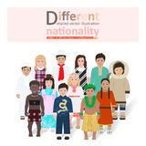 Little kids of different nationalities vector Royalty Free Stock Images