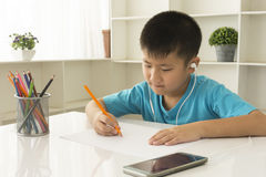 Little kids draw Royalty Free Stock Image