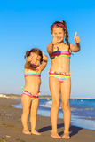Little kids enjoy the summer holidays Royalty Free Stock Photo