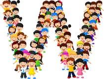 Free Little Kids Form Alphabet W Stock Image - 98485651