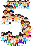 Little kids form number five. Illustration of Little kids form number five Stock Photos
