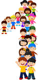 Little kids form number one. Illustration of Little kids form number one Stock Images