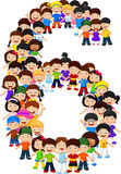 Little kids form number six. Illustration of Little kids form number six Royalty Free Stock Image