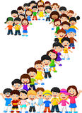 Little kids form number two. Illustration of Little kids form number two Stock Image