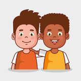 Little kids group avatars characters. Vector illustration design Stock Photos