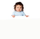 Little kids ower a white background Royalty Free Stock Image