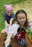 Little Kids Playing Pirate Royalty Free Stock Image