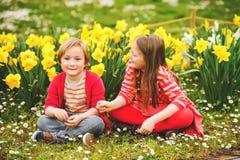 Little kids portrait Stock Photos