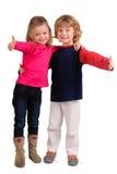 Little kids posing Stock Photo