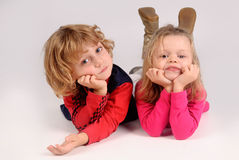 Little kids posing Royalty Free Stock Images
