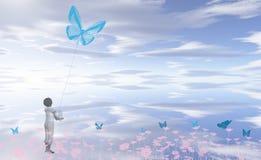 Little kite flyer Royalty Free Stock Photos
