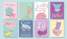 Little kitten banners Stock Photo