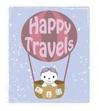 Little kitten - traveler Royalty Free Stock Photo