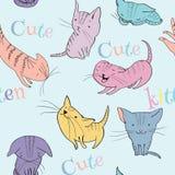 Little kittens pattern Stock Photography