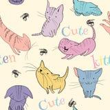 Little kittens pattern Stock Images