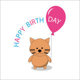 Little kitty and balloon royalty free stock images