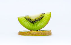Little kiwi. Kiwis in a white background stock photography