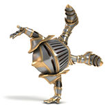 Little knight acrobat Stock Images