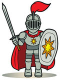 Little knight. A cartoon illustration of a little knight Royalty Free Stock Photography