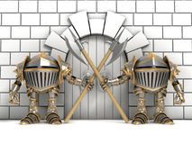 Little knights guarding the gates Royalty Free Stock Image