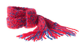 Little Knitted Scarf Royalty Free Stock Images