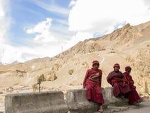 Little Ladakhi Monks Stock Photo