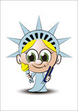 Little lady liberty Stock Image