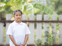 Little lady in student suit Stock Images