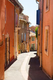 Little lane in French Roussillon Stock Photos