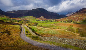 Little Langdale and The Pikes Royalty Free Stock Photo