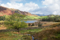 Little Langdale Tarn in The English Lakes Royalty Free Stock Photos