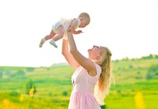 Little laughing baby Royalty Free Stock Image