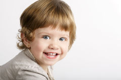 Little laughing girl portrait royalty free stock photography
