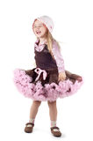 Little laughing girl in studio Royalty Free Stock Photo