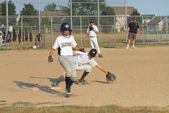 Little League Baseball. Waukesha, WI, USA, July 12, 2012. Little league baseball game of 12 year olds, between Waukesha Blazers and Waukesha Yellow Jackets royalty free stock photography