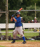 Little league baseball batter Stock Photo