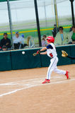 Little league baseball batter Stock Images