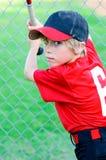 Little league baseball boy portrait Royalty Free Stock Images