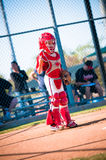 Little league baseball catcher Stock Image