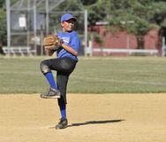 Little league baseball pitcher Stock Images