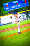 Little league baseball pitcher Stock Photography