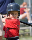 Little League Baseball Player Stock Photo