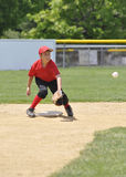 Little league baseball player royalty free stock photo