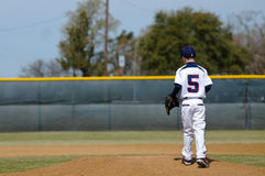 Little league baseball player Stock Image