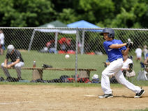 Little league batter royalty free stock image