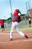 Little league batter Stock Image