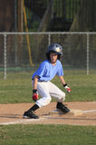 Little League Boy Running the Bases Royalty Free Stock Images